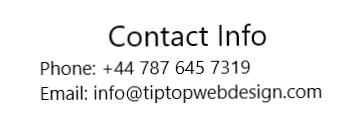 Contact TipTop Web Design